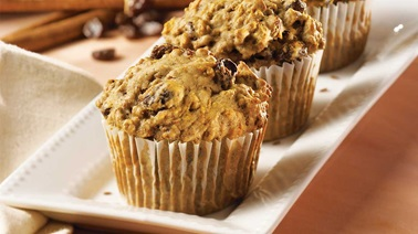 Carrot and raisin bran muffins