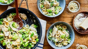 Orecchiette with Chicken & Brussels Sprouts by Geneviève O'Gleman