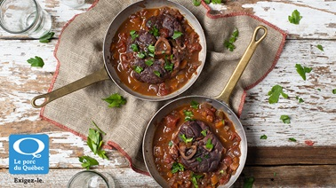 Red wine pork osso buco