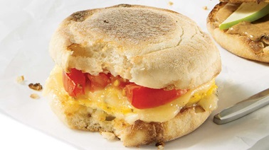 Egg & cheese breakfast sandwich