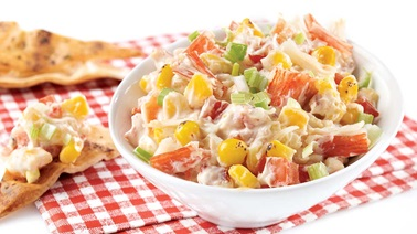Creamy corn and crab-flavoured dip
